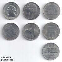 DDR - Set 7 verschiedene 5 Mark Münzen - 1978 1979 1980 1981 1982 1983 1984