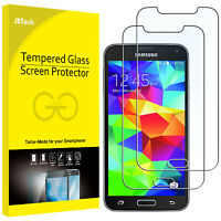JETech Screen Protector for Samsung Galaxy S5 Tempered Glass Film 2-Pack