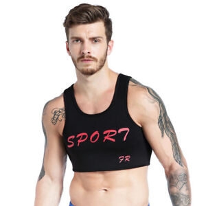 Mens Neoprene Fitness Sports Chest Support Braces Vest Protective Gear