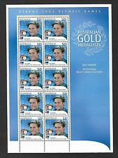 2004 ATHENS OLYMPIC GAMES SHEETLET - IAN THORPE - SWIMMING -10 x 50c STAMPS