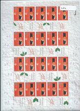 wbc. - GB -  LS02 - SMILER SHEET - CHRISTMAS - 19p. ROBINS - unm.  mint
