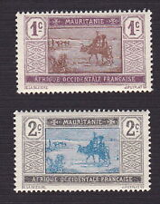 Mauritania 1913 Scott 18 + 19 - Crossing Desert 1,2-centime - MNH