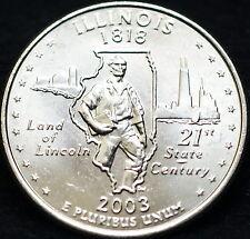 2003 P Illinois State BU Washington Quarter from U.S. Mint Roll