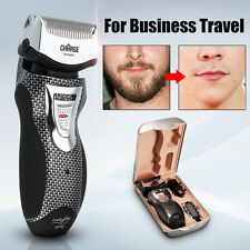 2In1 Mens Rechargeable Cordless Electric Shaver Razor Trimmer Dual Blade Wet/Dry