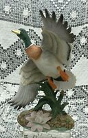 Mallard In Flight Duck HOMCO 8804, 1990 Masterpiece Porcelain Signed Mizuno