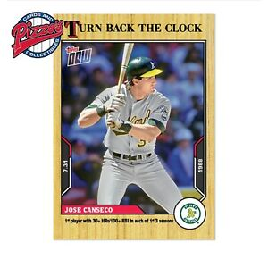 Jose Canseco - 2021 MLB TOPPS NOW Turn Back The Clock - Card 122 Presale