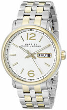 Marc Jacobs Stainless Steel Band Casual Round Wristwatches