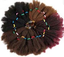 "22"" AFRO KINKY BULK HAIR SYNTHETIC EXTENSIONS CROCHET BRAIDING TWIST HAIR CHOOSE"