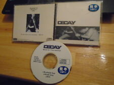 RARE OOP PROMO JAPAN Decay CD EP Back In the House PUNK hardcore 1998 MOTHRA !