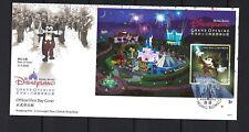 China Hong Kong 2005 FDC Gold Opening Disneyland Disney stamps Cartoon Micky