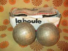 Lot 2 Anciennes BOULES LYONNAISES INTEGRALE 980g Sport-Boule Pétanque Doublette