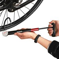 Bomba Bicicleta Con Medidor De Calibre De Alta Presión Aire Inflador de Bicicleta de mano de choque