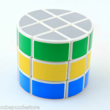 DS 3x3x3 Cylinder Magic Cube Pie Twist Puzzle Intelligence Toys Kids Gift White