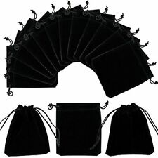 50 Pack Velvet Jewelry Pouches Bags 39x 47inch Black Cloth Drawstring For And