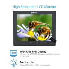"8.0"" TFT LCD Color CCTV Security Display Monitor Screen VGA BNC AV Ypbpr Input"