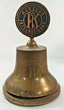 Vintage Kiwanis International Key Club Brass Bell By The Bronze Craft Foundry