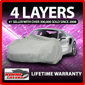 4 Layer Car Cover - Soft Breathable Dust Proof Sun Uv Water Indoor Outdoor 4777