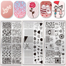 Born Pretty Nagel Stempel Schablone Valentinstag Rose Nail Art Stamping Plates