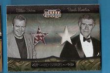 STAR TREK CAPTAIN KIRK WILLIAM SHATNER & RICARDO MOTALBAN WORN RELIC CARDS #d250