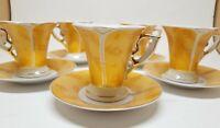 "GNA Imperial Fine Porcelain Milano Demitasse Cups & Saucers (5) ""Italian Design"""