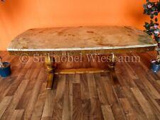 Massiver Couchtisch Beistelltisch Tisch Nussbaum Marmorplatte