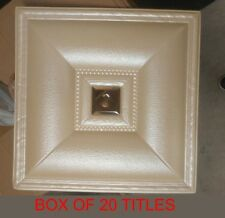 "3Dwall/Ceiling Panels-(case of 20pcs)Faux Leather w/Gold Mirror Center (20""X20"")"