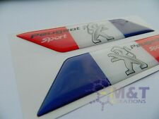 PEUGEOT sports X2 badges/emblems Side Wing Fenders PEUGEOT 206 306 308 EMBLEM