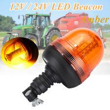 Rotating Flashing Amber Beacon Flexible DIN Pole Mount Tractor Warning LED Light