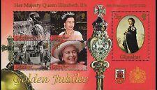 Queen Elizabeth II Golden Jubilee souvenir sheet mnh 2002 Gibraltar #900a