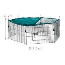 Freilaufgehege Freigehege Hasengehege Hasengitter Hasenauslauf mit Netz in Grün