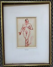 Henry Glintenkamp (1887-1946) Ink and Watercolor Drawing Female Nude