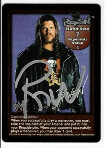 Raven Signed 2002 Fleer WWF Raw Deal Game Card WWE