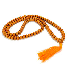 GENUINE FRAGRANT SANDALWOOD MALA Prayer Bead Necklace 10mm NEW Wood Natural Real