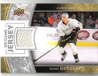 Ryan Getzlaf 2013-14 Upper Deck Hockey UD Game Jersey Card #GJ-RG Anaheim Ducks