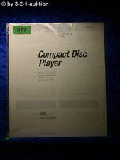 Sony Bedienungsanleitung CDP C500M CD Player (#0517)