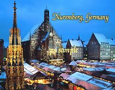 Germany - NUREMBURG CHRISTMAS MARKET - Travel Souvenir Flexible Fridge Magnet