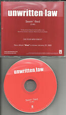 UNWRITTEN LAW Seein' Red USA RARE PROMO Radio DJ CD Single 2001 MINT seein