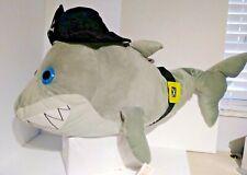 "Jumbo 40"" Shark Skull Bone pirate hat plush stuffed animal New with tags"