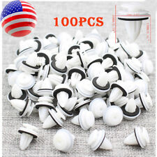 100pcs Plastic Rivet Car Door Trim Retainer Clips 9mm Hole For Honda Mitsubishi