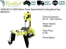 """4.5"""" Metal Bandsaw Three-Speed 550W Metal Cutting Band Saw 100x150mm Heavy Duty"""