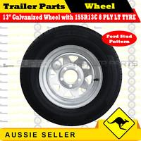 155R13C 8 PLY 13 inch Sunraysia Gal Wheel Rim & Tyre (Ford Stud Pattern) Trailer
