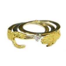 Anello fede sarda Maninfide oro giallo e bianco Gioiello Sardegna fidanzamento