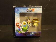 Super Mario Galaxzy  2 Mini Figurine Collection Mario & Bee  New in Box