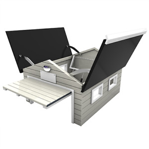 Garage Housing Roof Shade Garden Protector Robotic Lawn Mower Wood Shelter Cover