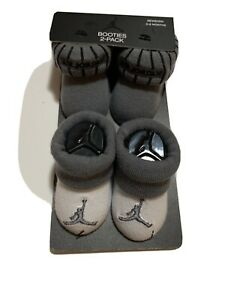 New Nike Air Jordan Jumpman Grey White Baby infant 2 pair booties