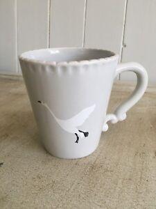 mug tea coffee grey flying goose design durable stoneware gift boxed H10cm W9cm