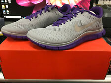 SIZE 8 NIKE FREE 4.0 V2 RUN WALK SHOES SNEAKERS RUNNING PURPLE/GRAY