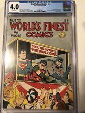 Worlds Finest Comics 8 CGC 4.0