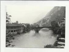 91434 FOTOGRAFIA ORIGINALE VALLE VAL  D' AOSTA PONT SAINT MARTIN ANNI 60