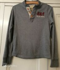 Kid's ABERCROMBIE AND FITCH GREY SWEATSHIRT - Size SMALL